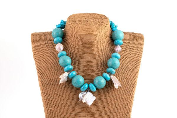 Collane perla turchese