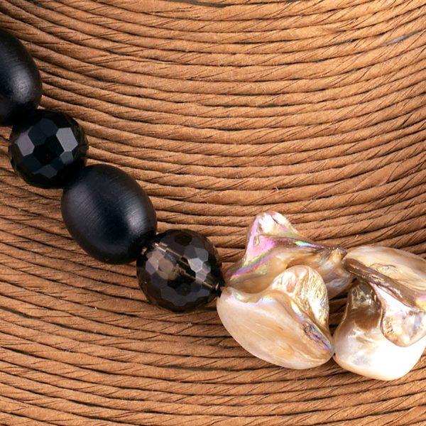 Collana perla d'ebano