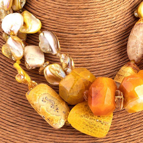 Collana yellow stone