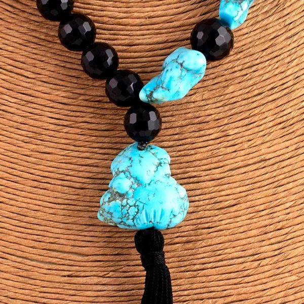 Collana turchese nero