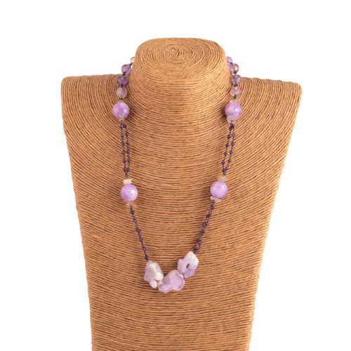 Collana rosario ametista