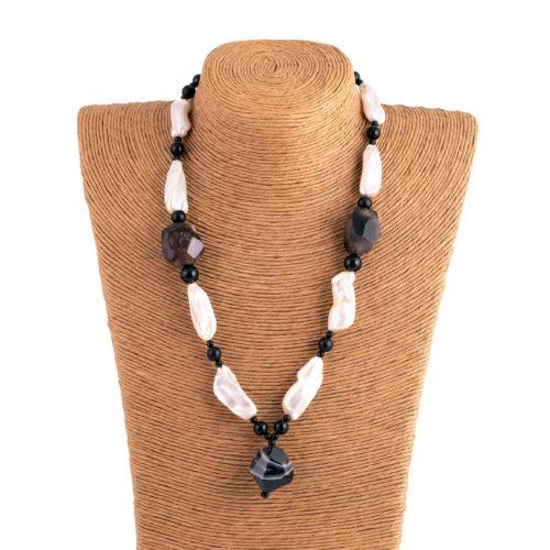 Collana perla muschiata